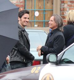 Robert Carlyle and Colin O'Donoghue - Behind the scenes - 4 *7 - 24 September 2014