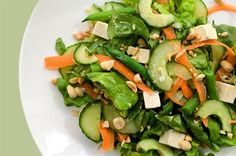 chilled tofu salad miso ginger vinaigrette