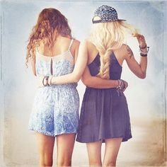 """Find and save images from the """"best friend photoshoot ideas"""" collection by someone build a fort w/ me (alilsadbuthellarad) on We Heart It, your everyday app to get lost in what you love. Festival Friends, Loose Braids, Best Friend Photos, Love Hair, Friends In Love, Special Occasion Dresses, Chic Outfits, Photography Poses, Passion For Fashion"""