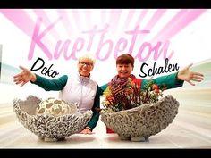 Dekoschalen aus Knetbeton.Die Anleitung zum selbst machen! - YouTube