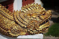Thai dragon sculpture