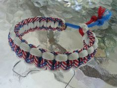 Just Listed on Etsy - Adjustable 550 Paracord Bracelet  Patriotic by Big1011GuyCreations, $4.50