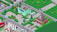 My initial design - naturally next to the Channel 6 Studios I would like a more involved and larger design but I need land! Springfield Simpsons, Springfield Tapped Out, The Simpsons Game, Game Design, Design Ideas, Clash Of Clans, Games, Terraria, Album