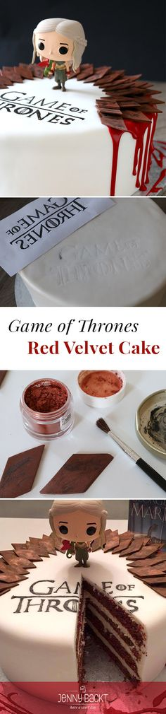 Passend zum heutigen Game of Thrones Staffelfinale habe ich als Bestellung einer Freundin diese Motivtorte zaubern dürfen. Schaut gleich mal für das Rezept und Anleitung auf meinem Blog vorbei! ❤️