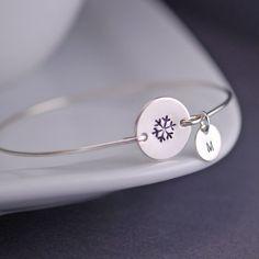 Snowflake+Bracelet+Personalized+Snowflake+by+georgiedesigns,+$36.00