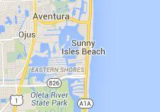 Map of sunny isles beach