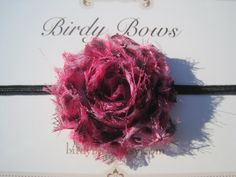 Mini Pink Leopard Headband Baby Headband Baby Girl by BirdyBows, $5.50