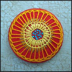 Broderede knapper - www.birthine.dk