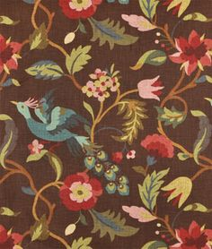 Richloom Lucy Chocolate Fabric - $21.05 | onlinefabricstore.net