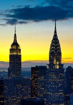 Empire state building & Chrysler building,,,new york city,,,