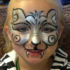 Face paint cat mask