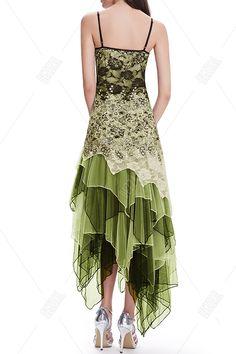 Floral Layered Asymmetric Slip Dress