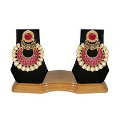 Indian Multicolor Kundan Chandelier Earrings Set for Womens Shop ...