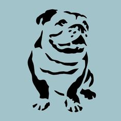 bulldog stencil - I NEED to adopt one! <3 ( the doggy not the stencil ;)