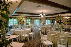 Garden Reception decor by Southern Event Planners, Memphis weddings, Green and White Wedding