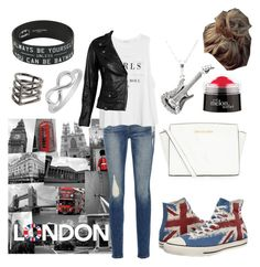 """""""London day"""" by pinkkittycat ❤ liked on Polyvore featuring Jewel Exclusive, Frame Denim, MANGO, Converse, MICHAEL Michael Kors, philosophy and VIPARO"""