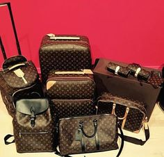 Lv Luggage, Luxury Luggage, Travel Luggage, Luxury Bags, Luis Vuitton Backpack, Louis Vuitton Kimono, Designer Travel Bags, Luxury Lifestyle, Backpack Bags