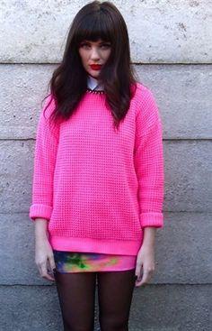neon pink jumper