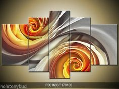 "5pc Modern abstract art OIL Painting on Canvas NO FRAME ""Abstract Figures"" PM-6~Abstract swirls~"