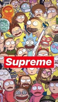 Supreme Rick And Morty Wallpapers Wallpaper Cave with Rick Morty Supreme Wallpaper - All Cartoon Wallpapers Cartoon Wallpaper, Wallpaper Sky, Supreme Iphone Wallpaper, Trippy Wallpaper, Wallpaper Iphone Cute, Aesthetic Iphone Wallpaper, Cute Wallpapers, Aztec Wallpaper, Wallpaper Ideas