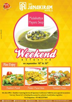 Exclusive Weekend special from Sep 19th to 20th at #Srijanakiramhotels.