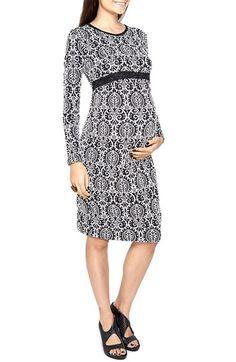 bb94d20f4b Imanimo Jacquard Print Maternity Dress available at  Nordstrom Sheath Dress