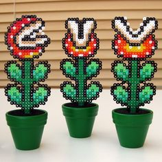 8-bit mario plants. If I ever have a house, I'm putting these up outside. :P