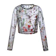 TQNFS New Embroidery Blouse Shirt Women Tops Blusas Transparent Mesh Sexy Blouses Shirts Long Sleeve Blouse Chemise Mesh Long Sleeve, Long Sleeve Shirts, Sexy Blouse, Shirt Blouses, Garden Mesh, Embroidery, Transparent, Clothes For Women, Collection