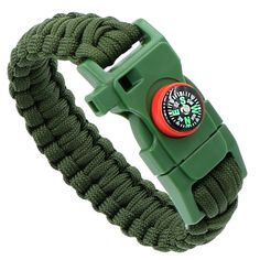 DigHealth(TM) Paracord Survival Bracelet-?For Outdoor Camping Hiking *** Click image for more details.