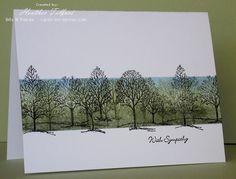 OLW 16 Stamp a Scene | bits & pieces mellow moss always artichoke black bashful
