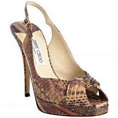 Jimmy Choo Blush Snakeskin Poem Platform Slingbacks. would you actually wear them? yes or no and with what?