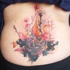 Here is a nice abstract piece that we just finished today. It was originally a lower back tribal tattoo. #coverup #coveruptattoo #rose #rosetattoo #abstract #watercolortattoo #therealmrtattoo #blacklinestudio @blacklinestudio #torontoink #inkedup #inked #tattoo #tattooartistmagazine #art #tattoos #swag #montreal #tdot #ink #inkmaster #besttattoo @thedailytattoos @lifebleedsink @tattoo_artists #eternalink @inkfreakz #body