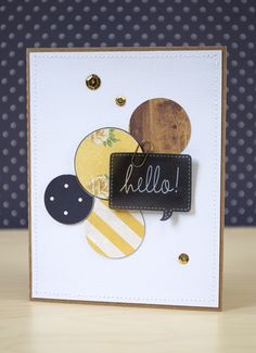 A hello! card and the subtract all tool