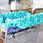 shopping cart cover tutorial and pattern -- and other baby sewing projects