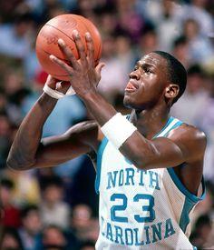 From North Carolina Michael Jordan Michael Jordan Basketball, Michael Jordan Unc, Mike Jordan, Michael Jordan Pictures, Jordan Bulls, Basketball Pictures, Sports Pictures, Michael Jordan North Carolina, Baskets