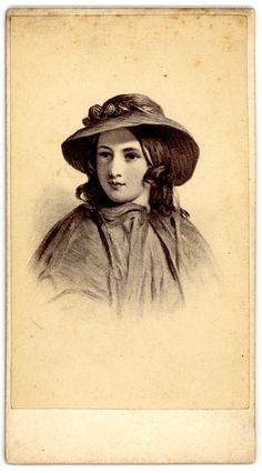 [Woman with hat] 1855-1875