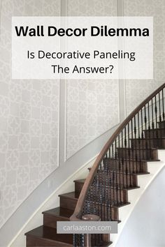 Wall Decor Dilemma with decorative paneling