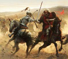 Illustrating Westeros: TWOIAF Special Edition by lovelessdevotions on DeviantArt Knights Templar, Sor Barristan, Barristan Selmy, High Fantasy, Fantasy World, Fantasy Art, Arte Medieval, Medieval Fantasy, Hard Pressed
