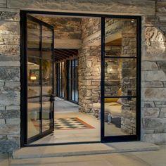 Iron Front Door, Green Front Doors, Double Front Doors, Front Door Entrance, Wooden Front Doors, Door Entryway, Front Door Colors, Glass Front Door, Sliding Glass Door
