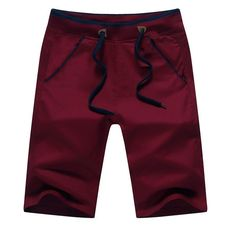 Men Summer Shorts Men Brand 95% Cotton Knee Length Beach Shorts Bermuda Men's Shorts Big Size M- 5XL