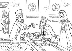Esther Accusing Haman coloring page from Queen Esther ...