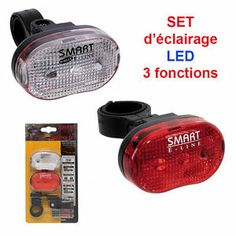 Set d'éclairage pour vélo à  LED 3 fonctions