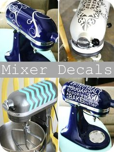 decals for kitchenaid mixers.I think my kitchenaid. Vinyle Cricut, Kitsch, Shilouette Cameo, The Cardigans, Kitchen Aid Mixer, Kitchen Aide, Kitchen Aid Decals, Kitchen Items, Kitchen Stuff