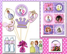 Sofia the first party pink sofia the first by blueangeldigitals, $19.99