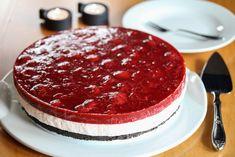 Ostekake med Oreo-bunn og jordbær Tiramisu, Oreo, Cheesecake, Sweets, Fish, Meat, Ethnic Recipes, Desserts, Cakes