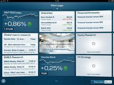 Danske Bank iPad - Dashboard