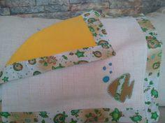 Conjunto pañalito de bebe más babero. / patchwork y manualidades - Artesanio