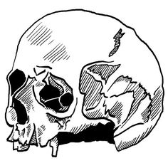 Trying out new techniques with the Wacom  #art #skull #drawing #wacom #zine #sketch #bw #blackandwhite #design