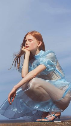 """Sheer Bliss"" Editorial in PHOENIX Magazine, UK August 2019 Styled by Madeleine Bowden Photographed by Victoria Adamson Studio Photography Poses, Editorial Photography, Portrait Photography, Blue Fashion, Colorful Fashion, Fashion Photography Inspiration, Fashion Poses, Aesthetic Photo, Editorial Fashion"