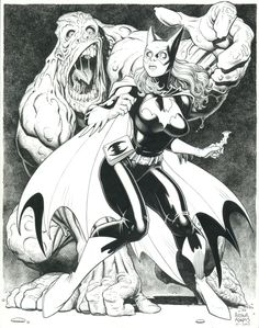 Art Adams Batgirl Comic Art